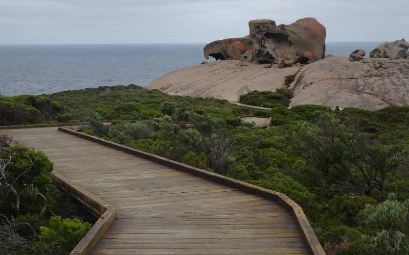Le Remarkable Caves di Kangaroo Island viste da lontano