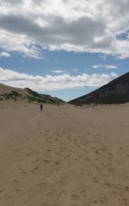 Spiaggia deserta alla fine del trekking Ravine des Casoars a Kangaroo Island