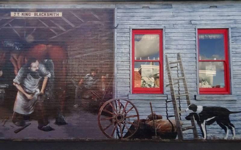 Murales di Sheffield, la città dei murales della Tasmania