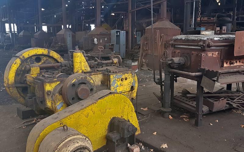 """Ex-fabbrica ferroviaria """"Blachsmit Shop"""" dentro il museo Queen Victoria di Launceston"""