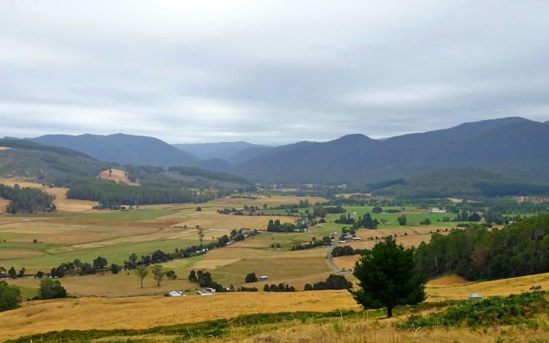 """Punto panoramico """"George Lookout"""" nel Nord della Tasmania"""