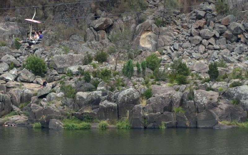 La seggiovia a singola campata più lunga al mondo nella Cataract Gorge di Launceston nel Nord della Tasmania