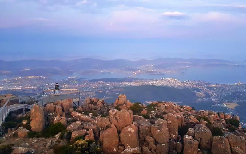 Punto panoramico su Hobart dalla cima del Mount Wellington
