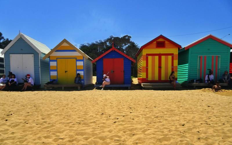 Casette colorate a Brighton Beach, la spiaggia più famosa di Melbourne