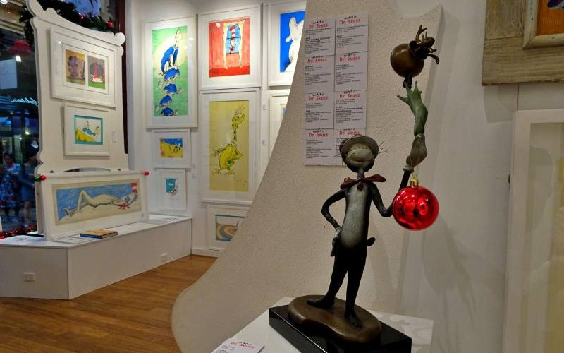 """Galleria d'arte """"Art of Dr. Seuss"""" all'interno del The Block Arcade di Melbourne"""