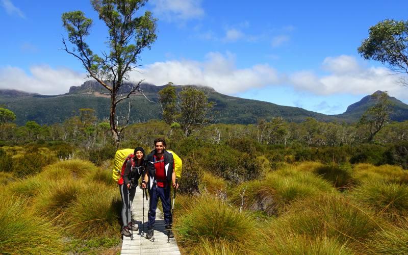 Verso Lake St. Clair durante trekking Overland Track in Tasmania