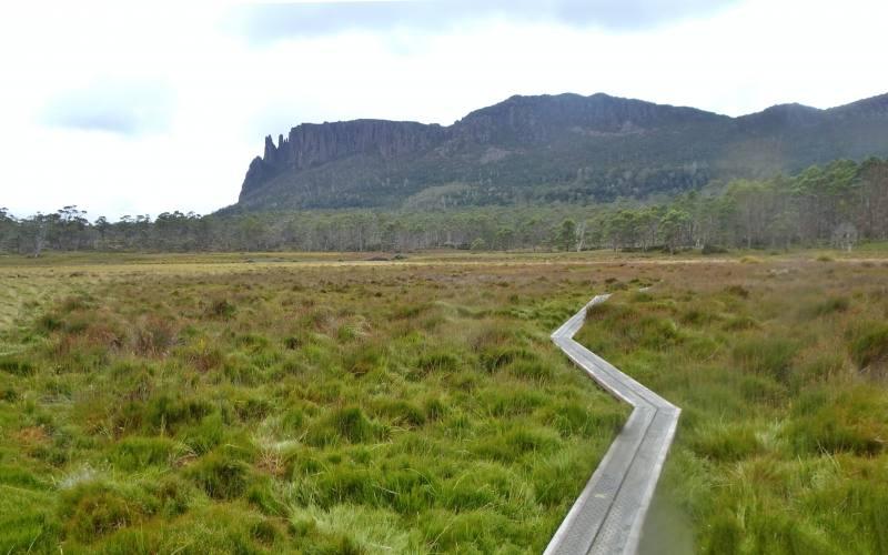 Percorso secondario dell'Overland Track per la cima del Mount Oakleight in Tasmania