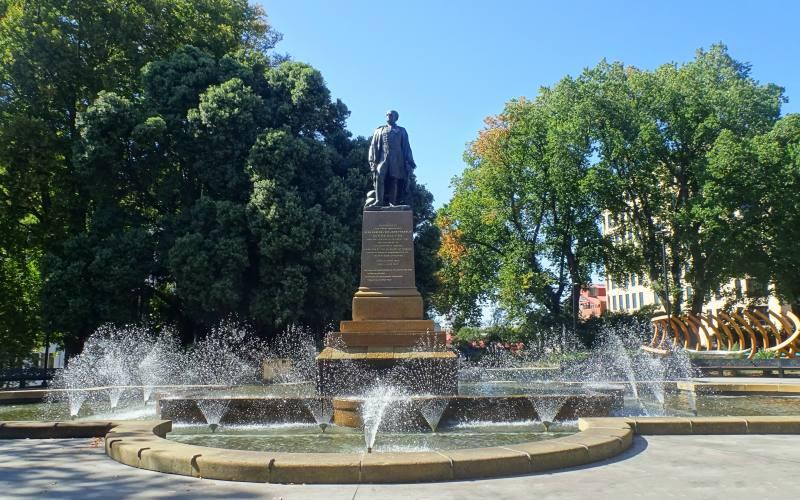 """Piazza """"Franklin Square"""" nel centro di Hobart in Tasmania"""
