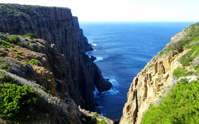Punto panoramico con vista Cape Raoul nel trekking alla Tasman Peninsula