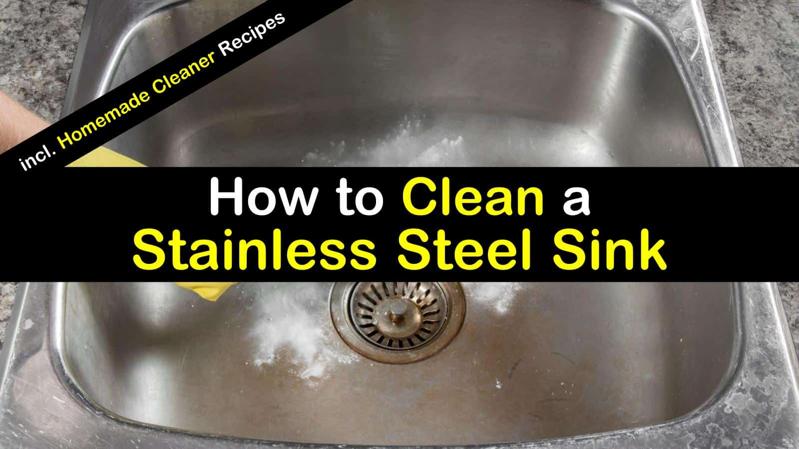 to clean a stainless steel sink