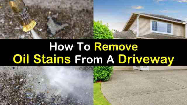 26 Simple Ways to Remove Oil Stains from a Driveway