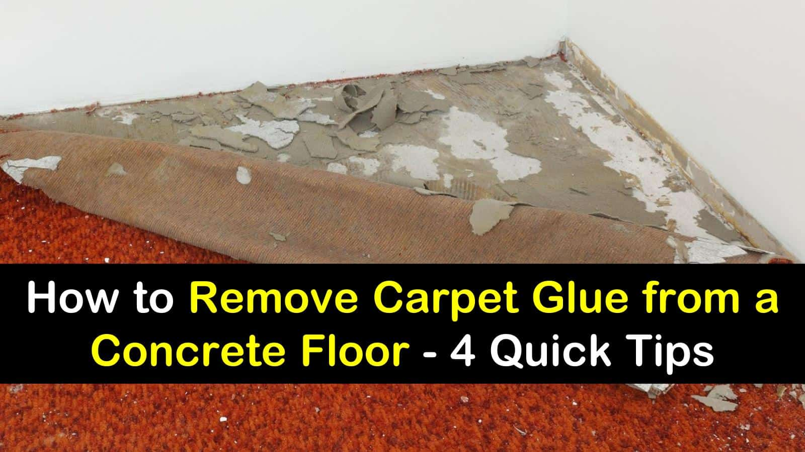 to remove carpet glue from a concrete floor