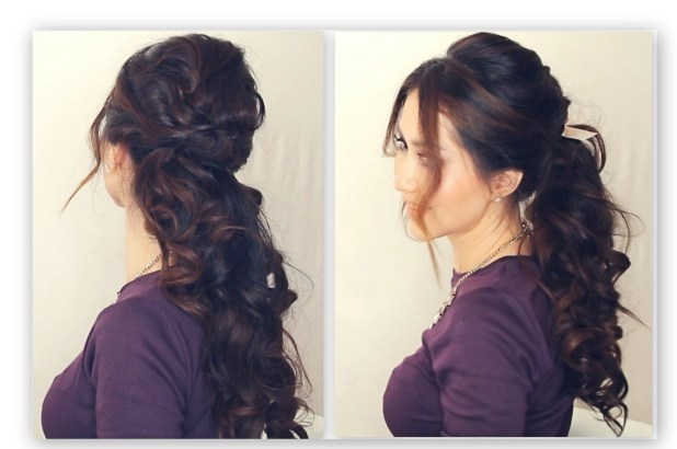 Relaxed Fancy half up ponytail
