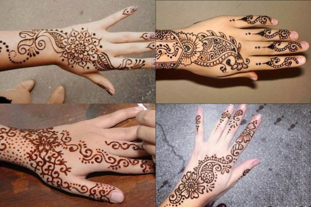 Hand Mehndi Tips : Simple mehndi design for left hand collected by tips clear