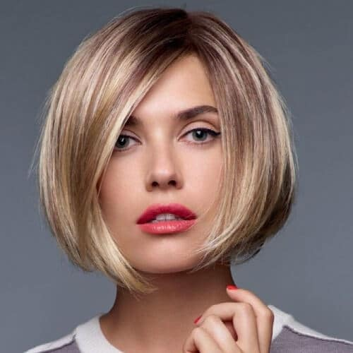 Graduated Bob With Side Parting