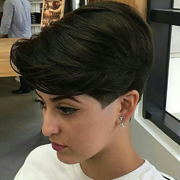 Short Bob with Shaved Sideburns