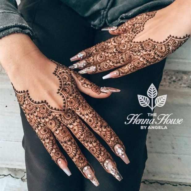 Half Hand Mehendi Designs