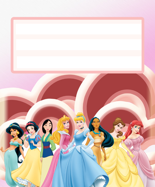 Etiqueta princesas Disney 4