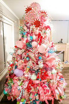 Decoraciones con dulces para navidad