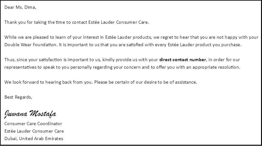 Estee Lauder email