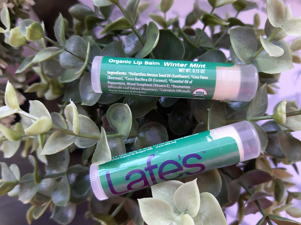 Lafe's natural lip balm winter mint