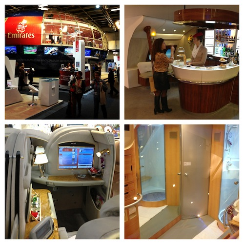 ITB Berlin Emirates Stand was my favourite stand. Massive rotating ball with replica A380 plane areas like the 1st Class Seats, Spa and Bar