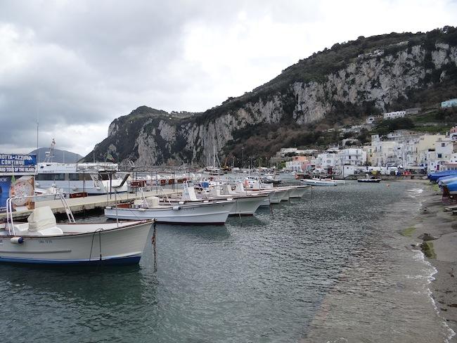 Boats on Capri Island Italy