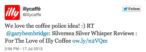 Illy Coffee liked the article and posted this tweet!