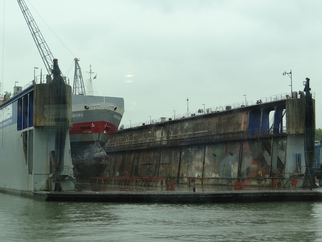 Dry Dock Rotterdam Harbour