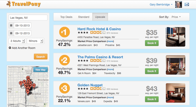 The lowest prices for Las Vegas Hotels on search I did today!