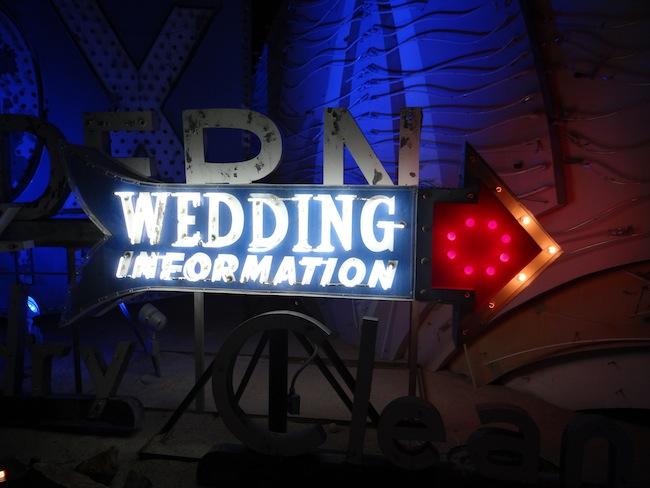 Wedding Chapel sign - Las Vegas Neon Museum