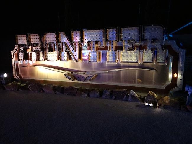 Frontier Hotel sign - Las Vegas Neon Museum
