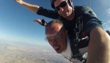 Mark sky diving in Las Vegas with Sky Dive Las Vegas