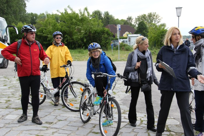 Uniworld Danube River Cruise guests prepare to cycle 17 miles from Melk to Durnstein in Austria