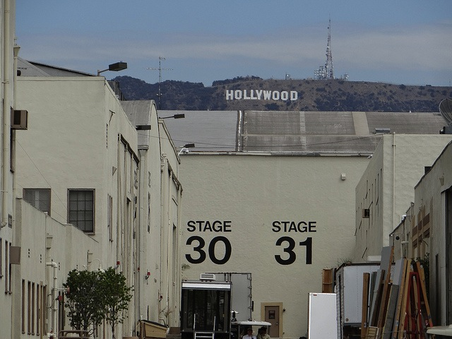 Hollywood sign in Los Angeles as seen from Paramount Studios