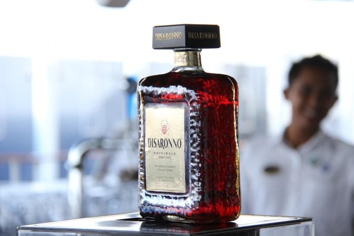 Disaronno cocktail bar on board MSC Divina