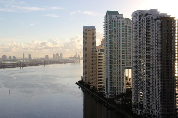 Modern condos overlooking Port Miami