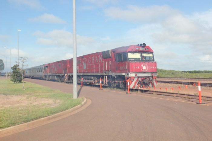 The Ghan Train in Darwin Northern Territory Australia #NTAustralia