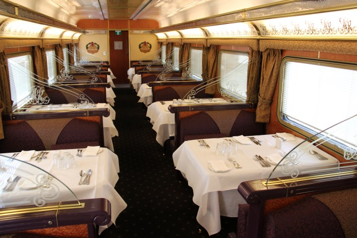 Queen Adeliade Dining Car The Ghan