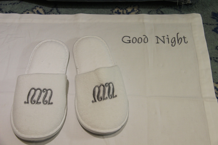 Uniworld River Beatrice Good Night Mat and Slippers