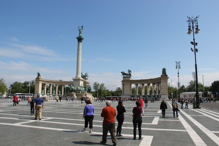 Heroes Square in Budapest. Impressive!