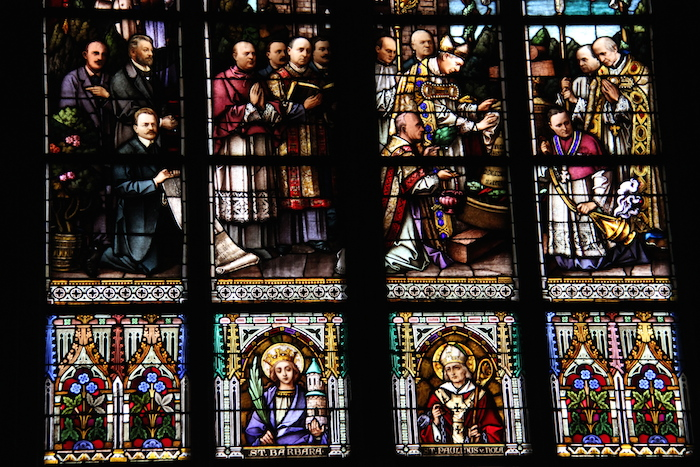 Stained Glass Windows Cathedral in Linz Austria