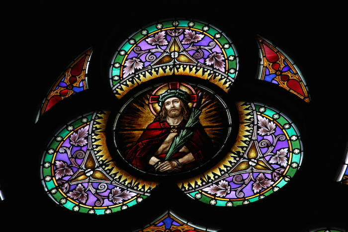 Stained Glass Windows in the Cathedral in Linz Austria