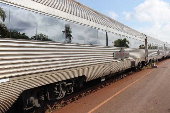 The Ghan in Alice Springs Station