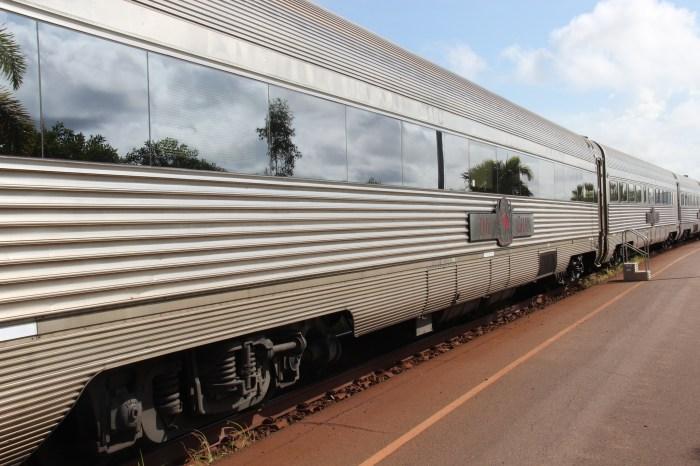 The Ghan in Alice Springs Station