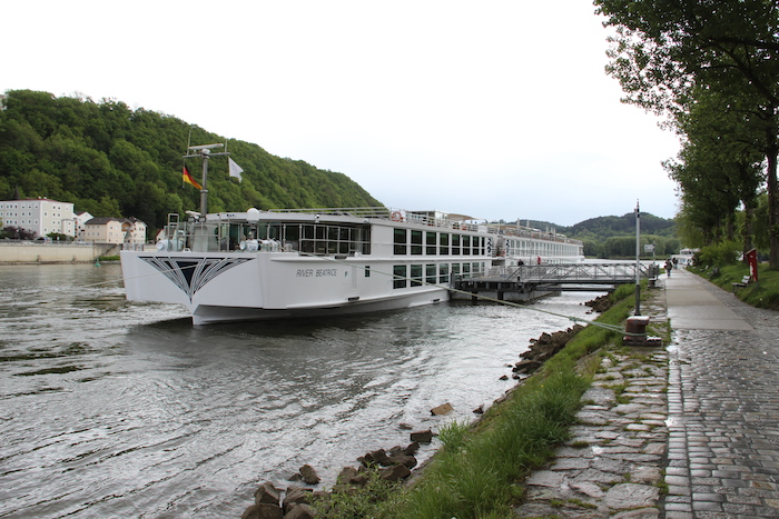 Uniworld River Beatrice Docked in Passau Germany