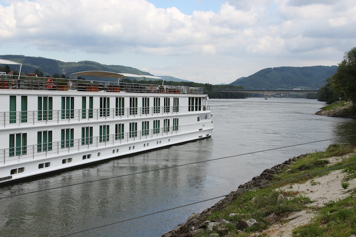 Uniworld River Beatrice moored in Melk Austria