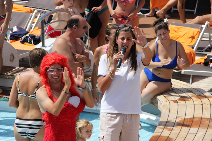 MSC Cruises Lirica Entertainment Team hold daily parties on deck and get dressed up