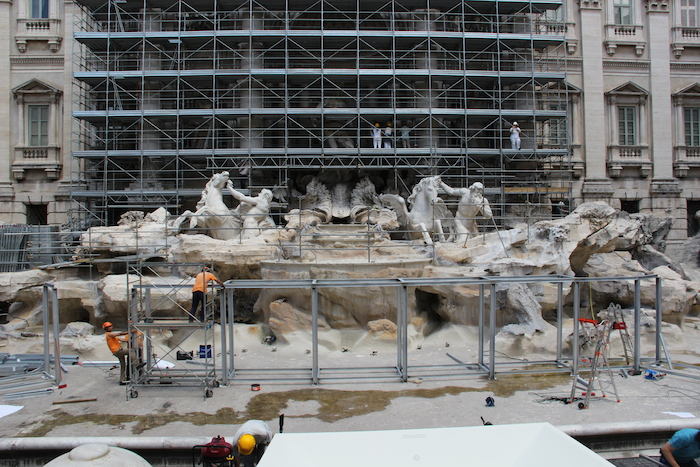 Trevi Fountain Rome under going renovations