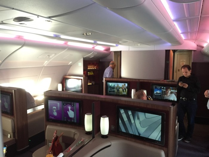 Qatar Airways A380 First Class Cabin